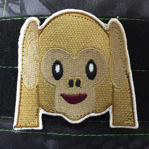 HEAR NO EVIL MONKEY MORALE PATCH - Tactical Outfitters