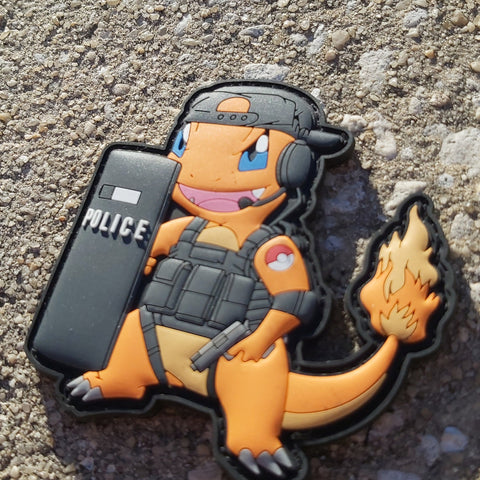Police Charmander PVC Morale Patch - Tactical Outfitters