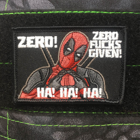 DEADPOOL ZERO FUCKS GIVEN – MORALE PATCH - Tactical Outfitters
