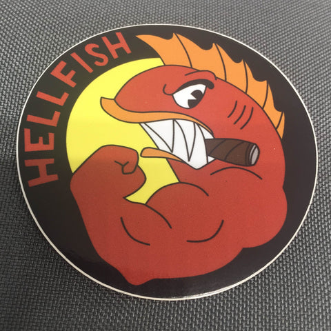 The Flying Hellfish Sticker - Tactical Outfitters