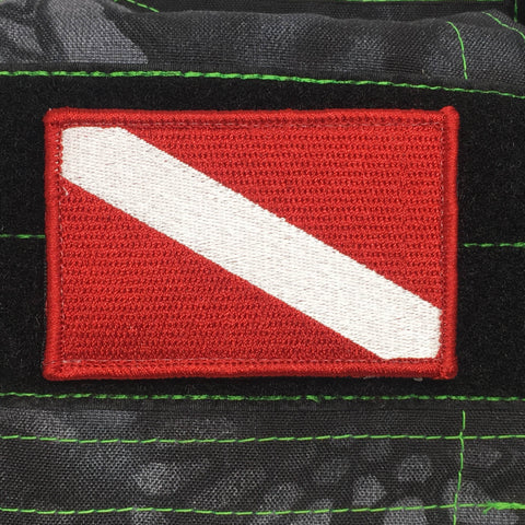 Down Diver - Scuba Flag Morale Patch - Tactical Outfitters