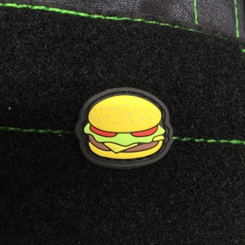 CHEESEBURGER GITD PVC CAT EYE MORALE PATCH - Tactical Outfitters