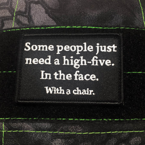 HIGH FIVE IN THE FACE MORALE PATCH - Tactical Outfitters