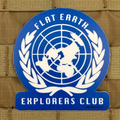 FLAT EARTH EXPLORERS CLUB STICKER - Tactical Outfitters