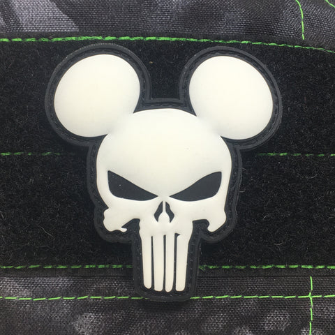 MICKEY PUNISHER GITD PVC MORALE PATCH - Tactical Outfitters