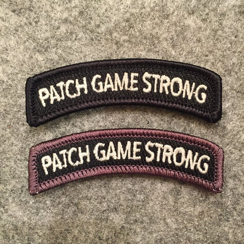 PATCH GAME STRONG MORALE PATCH TAB SET - Tactical Outfitters
