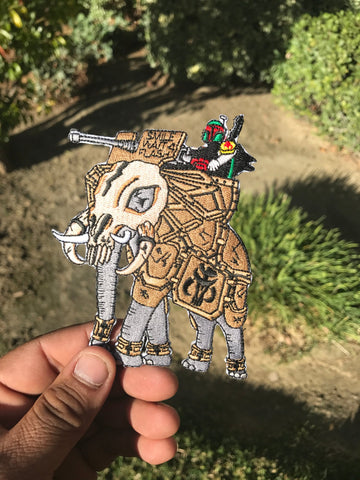 "MANDALORAIN RIDER V2 TAN ""SMILE WAIT 4 FLASH"" MORALE PATCH - Tactical Outfitters"