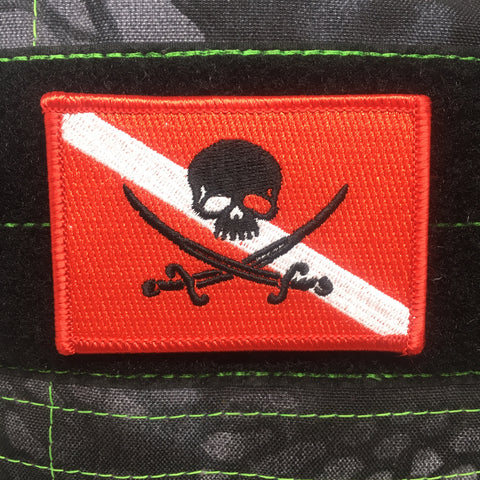 JOLLY ROGER SCUBA MORALE PATCH - Tactical Outfitters