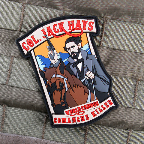 """JACK HAYS"" COMANCHES PVC MORALE PATCH - Tactical Outfitters"