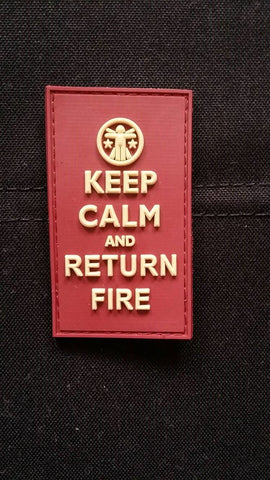 KEEP CALM & RETURN FIRE - MOJO TACTICAL MORALE PATCH - Tactical Outfitters