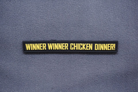 WINNER WINNER CHICKEN DINNER! PVC MORALE PATCH - Tactical Outfitters