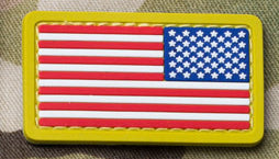 US FLAG MINI REVERSED MINI PVC PATCH - Tactical Outfitters