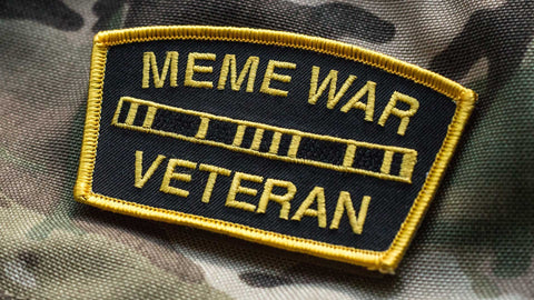 MEME WAR VETERAN MEDAL RACK MORALE PATCH - Tactical Outfitters