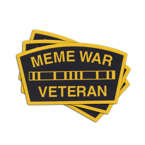 MEME WAR VETERAN STICKER - Tactical Outfitters