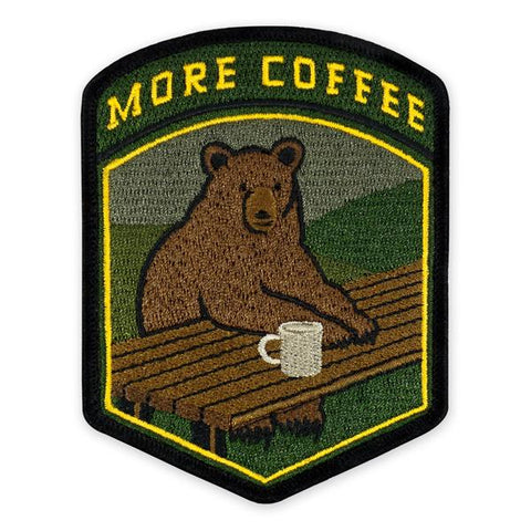 PDW More Coffee Bear Morale Patch - Tactical Outfitters