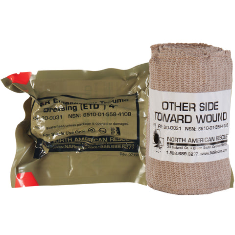 "North American Rescue Emergency Trauma Dressing 4"" - Tactical Outfitters"