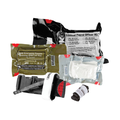 North American Rescue Individual Patrol Officer Kit (IPOK) Medical Kit - Tactical Outfitters
