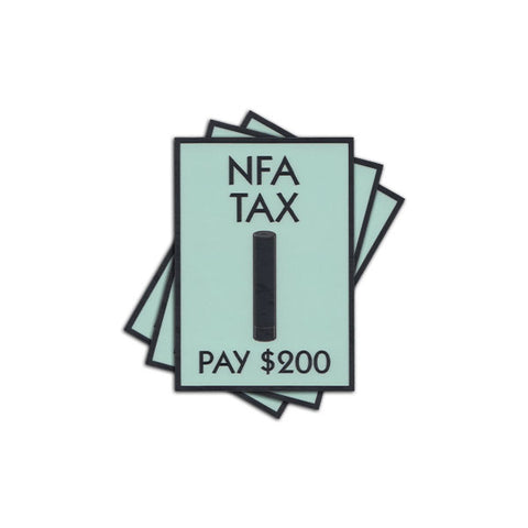 NFA TAX STICKER - Tactical Outfitters