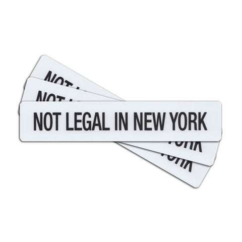 Not Legal In New York Sticker - Tactical Outfitters