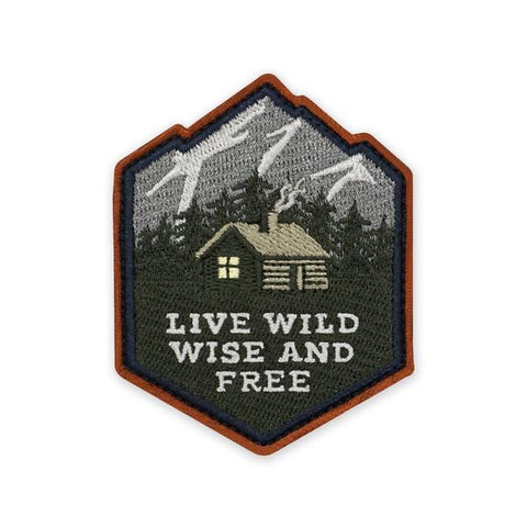 PDW Live Wild Wise And Free Morale Patch - Tactical Outfitters