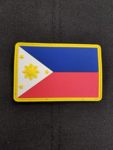 Philippines Flag PVC Morale Patch - Tactical Outfitters