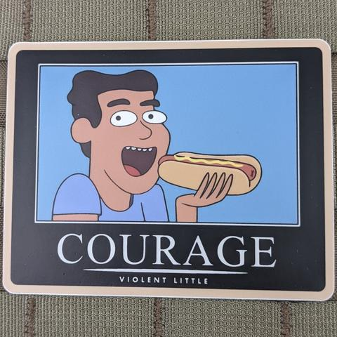 """COURAGE"" RICK & MORTY STICKER - Tactical Outfitters"