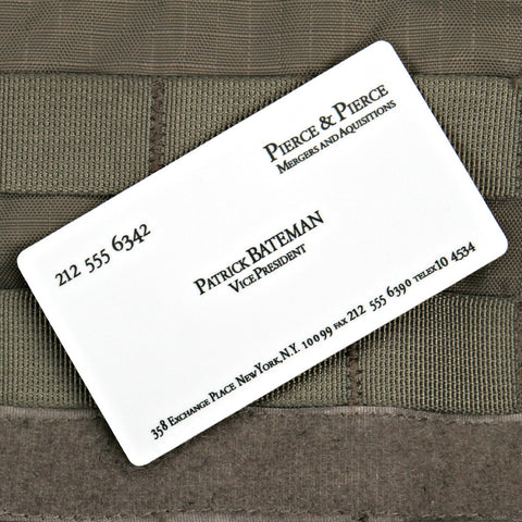 PATRICK BATEMAN BUSINESS CARD STICKER - Tactical Outfitters