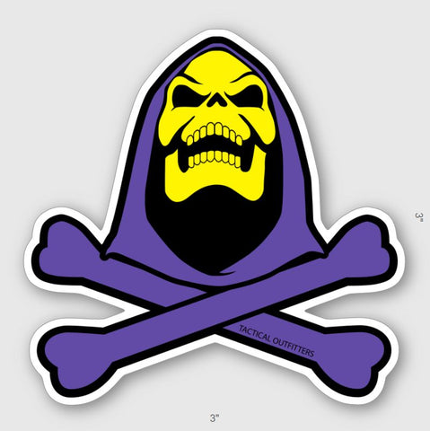 SKELETOR CROSSBONES STICKER - Tactical Outfitters