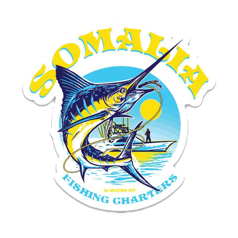 SOMALIA FISHING CHARTERS STICKER - Tactical Outfitters