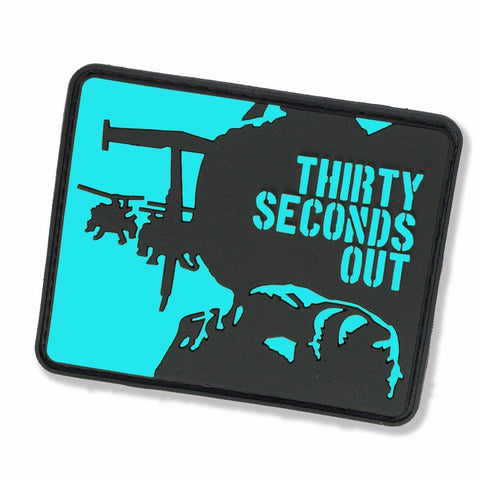 THIRTY SECONDS OUT GITD PVC MORALE PATCH - Tactical Outfitters