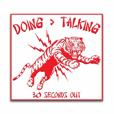 "CHINESE TAKEOUT ""DOING IS GREATER THAN TALKING"" TIGER PVC MORALE PATCH - Tactical Outfitters"