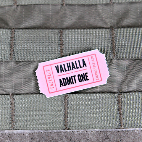 VALHALLA ADMIT ONE STICKER - Tactical Outfitters