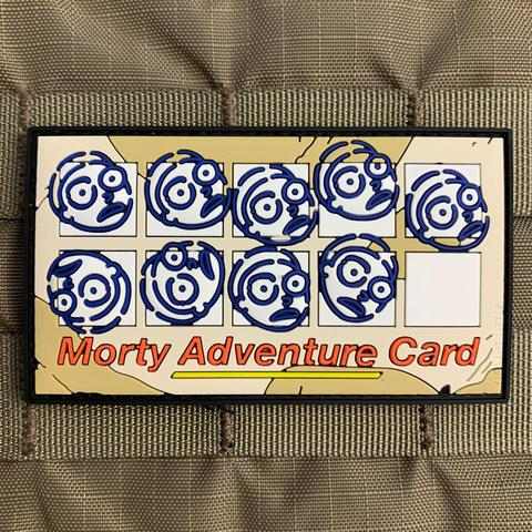 Morty Adventure Card PVC Morale Patch - Tactical Outfitters