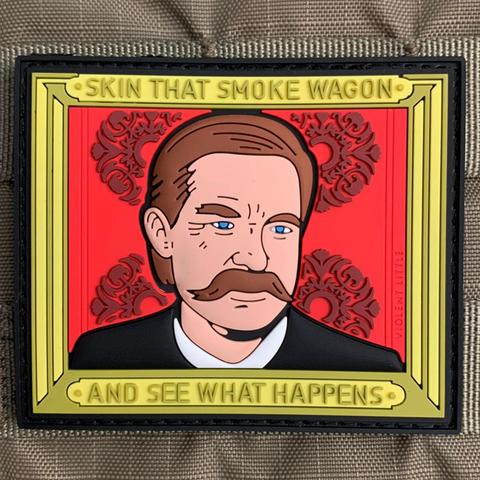 """SKIN THAT SMOKE WAGON"" TOMBSTONE PVC MORALE PATCH - Tactical Outfitters"