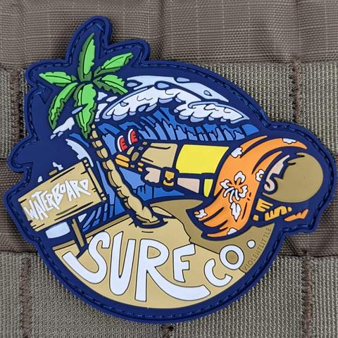 """WATERBOARD"" SURF CO. PVC MORALE PATCH - Tactical Outfitters"