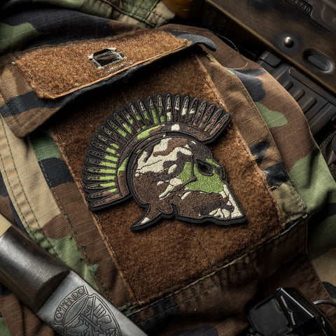 WOODLAND SPARTAN MORALE PATCH - Tactical Outfitters