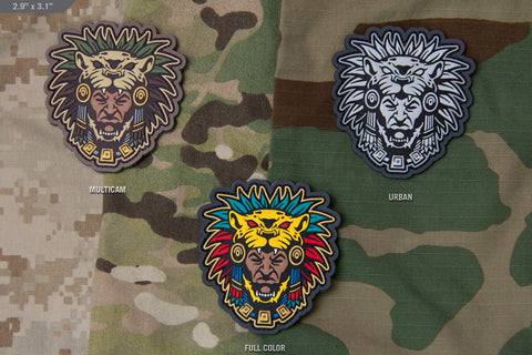 AZTEC WARRIOR HEAD 1 MORALE PATCH - Tactical Outfitters