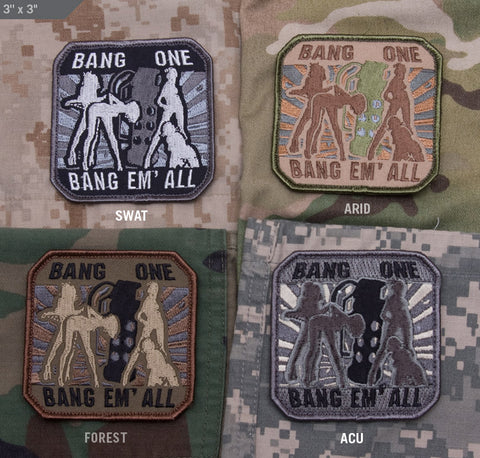 BANG EM ALL - LARGE MORALE PATCH - Tactical Outfitters