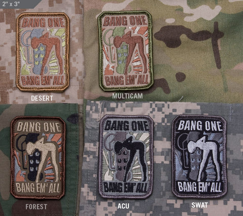 BANG EM' ALL - SMALL MORALE PATCH - Tactical Outfitters