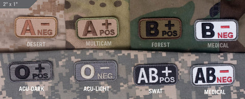 BLOOD TYPE PATCH - Tactical Outfitters