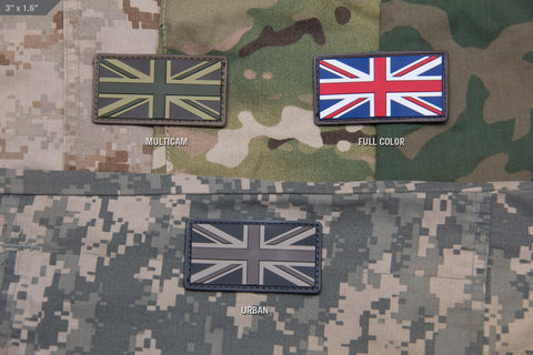BRITISH FLAG PVC MORALE PATCH - Tactical Outfitters
