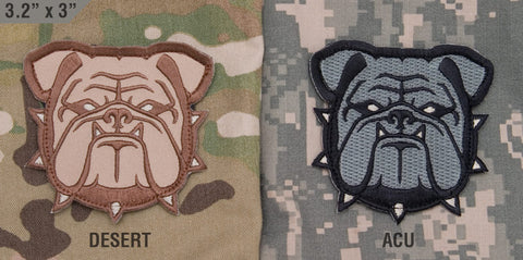 BULLDOG HEAD - LARGE MORALE PATCH - Tactical Outfitters