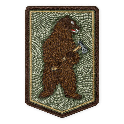PDW Bushcraft Bear With Axe Morale Patch