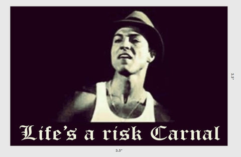 """Life's a risk Carnal"" Sticker"