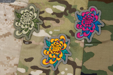 Chrysanthemum Tattoo 1 PVC Morale Patch - Tactical Outfitters