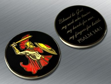 Psalm 144:1 Challenge Coin - Tactical Outfitters