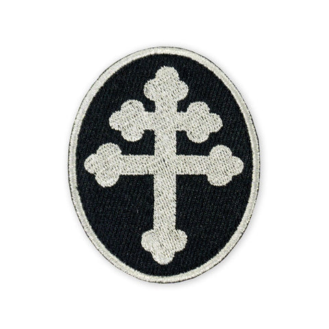 PDW Cross Of Lorraine Silver Morale Patch - Tactical Outfitters