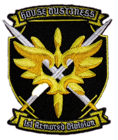 HOUSE DUSTINESS 1ST ARMORED DIVISION MORALE PATCH - Tactical Outfitters