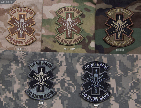 DO NO HARM - SPARTAN MORALE PATCH - Tactical Outfitters
