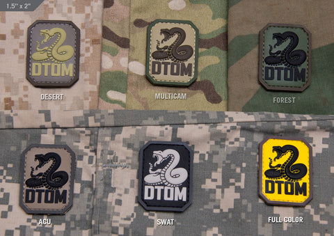 DTOM PVC PATCH - Tactical Outfitters